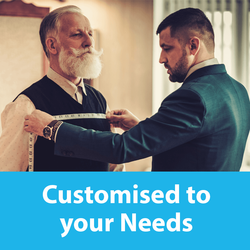 customised to your needs