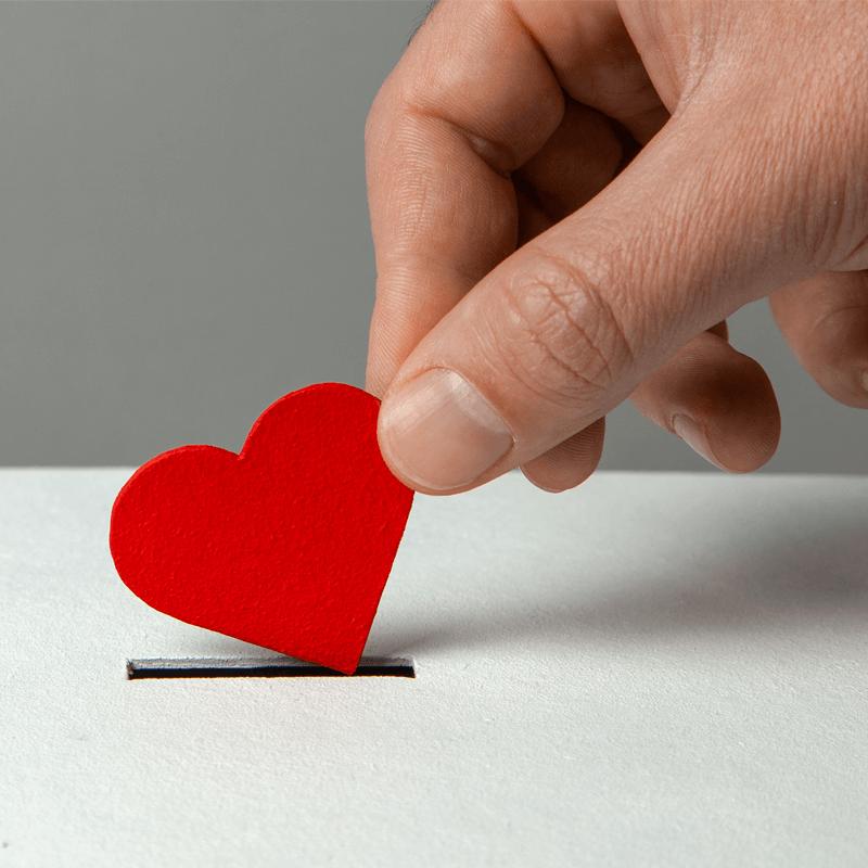 love heart in box